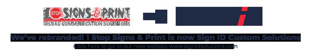 1 Stop Signs & Print Rebrand